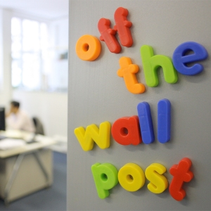 Off The Wall Post social media podcast logo